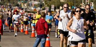 Phoenix marathon. Runners at the PF Chang's Rock 'n' Roll Marathon in Phoenix Arizona, January 2008 stock photo