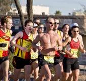 Phoenix marathon. Runners at the PF Chang's Rock 'n' Roll Marathon in Phoenix Arizona, January 2008 royalty free stock image