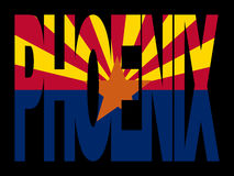 Phoenix met de vlag van Arizona Stock Afbeeldingen
