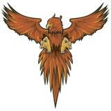 Phoenix met het knippen van weg Stock Afbeeldingen