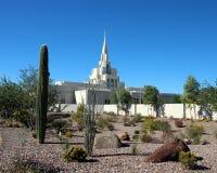 Phoenix, mormón del templo de AZ LDS Imagenes de archivo