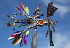 Phoenix movable sculpture by artist Andrew Carson at public art walk in town of Yountville Stock Photography