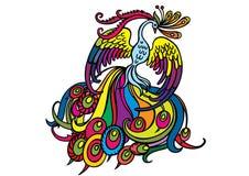 Phoenix multicolora Fotos de archivo libres de regalías
