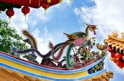 Phoenix mythological on the eave Royalty Free Stock Image