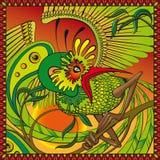 Phoenix na gałąź ilustracja wektor