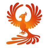 Phoenix no fundo branco Fogo-pássaro Fotos de Stock Royalty Free