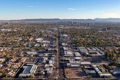 Phoenix no tempo crepuscular de cima de Fotos de Stock Royalty Free