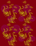 Phoenix Patterns. With Chinese characteristics patterns and logo Royalty Free Stock Photography