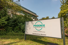 Phoenix pharmaceuticals munich sign Stock Photos