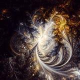 Phoenix piórka Fractal sztuka ilustracja wektor