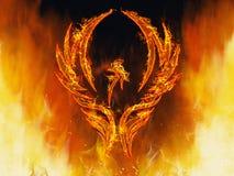 Phoenix resning Arkivfoto