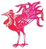 Phoenix rossa illustrazione vettoriale