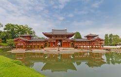 Phoenix Salão dentro Byodo-no templo em Uji, Japão Local do Unesco fotos de stock royalty free