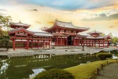 Phoenix sala przy Byodoin świątynią w Kyoto Zdjęcia Royalty Free