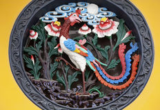 Phoenix Sculpture Jade Buddha Temple Shanghai Stock Photos
