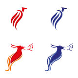 Phoenix. A set of phoenix  icons Stock Images