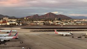 Phoenix Sky Harbor International Airport Time lapse. Phoenix,AZ/USA - 10.14.18: Phoenix Sky Harbor International Airport Time lapse, it is a civil-military stock footage