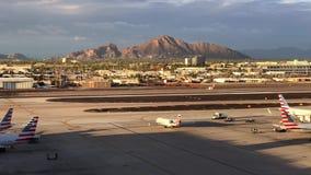 Phoenix Sky Harbor International Airport Time lapse. Phoenix,AZ/USA - 10.14.18: Phoenix Sky Harbor International Airport Time lapse, it is a civil-military stock video footage