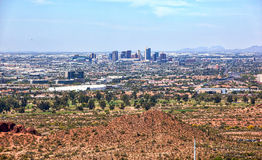 Phoenix Skyline from above Papago Park Stock Images