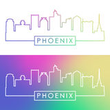 Phoenix skyline. Colorful linear style. Royalty Free Stock Images