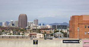 Phoenix Skyline from parking garage Stock Photography