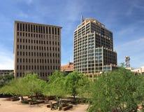 Phoenix skyskrapor på en första dag av våren royaltyfri fotografi