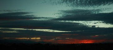 phoenix solnedgång Royaltyfri Fotografi