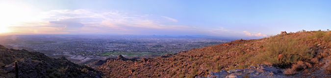 Phoenix South Mountain Panorama Stock Photography
