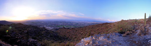Phoenix South Mountain Panorama Stock Image
