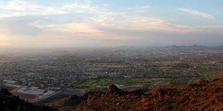 Phoenix South Mountain Panorama Royalty Free Stock Photography