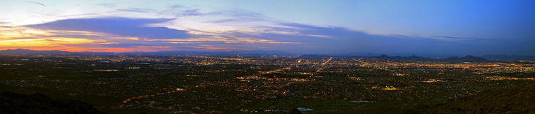 Phoenix South Mountain Panorama Royalty Free Stock Photos
