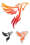 Phoenix sport mascot. Label. Logotype. Isolated on white Royalty Free Stock Images