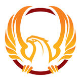 Phoenix sport mascot. Label. Logotype. Isolated on white Stock Images