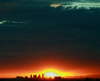 Phoenix-Stadt-Skyline Lizenzfreies Stockbild