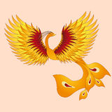 Phoenix with straighten wings. Royalty Free Stock Photography