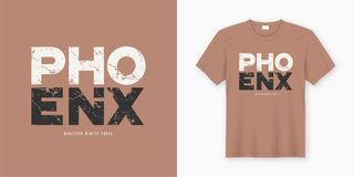 Phoenix stylish t-shirt and apparel design. Vector print, typogr Royalty Free Illustration