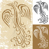 Phoenix. Stylized shape of a mythical bird Phoenix royalty free illustration