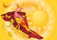 Phoenix and the sun Stock Photography