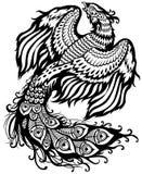 Phoenix svartvit Arkivbild
