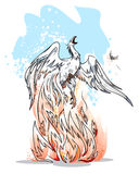 Phoenix is a symbol of revival Royalty Free Stock Images