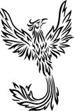 Phoenix tattoo isolated on white background. Illustration of Phoenix tattoo isolated on white background Royalty Free Stock Photos