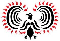 phoenix tatueringvektor Arkivbild