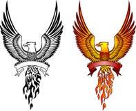 Phoenix und Emblem Lizenzfreies Stockbild