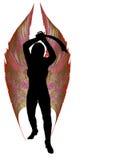 Phoenix Valkyrie con la espada del machete. Imagen de archivo libre de regalías