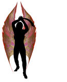 Phoenix Valkyrie mit Machete-Klinge. Lizenzfreies Stockbild