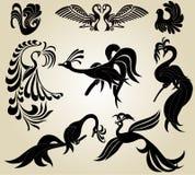 Phoenix van de vogel slhouette Royalty-vrije Stock Fotografie