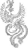 Phoenix Vector Illustration. Black and white Phoenix Vector Illustration Stock Photo