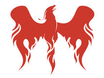 Phoenix vector illustration. The mythical Phoenix spreading its fiery wings vector illustration Royalty Free Stock Photo