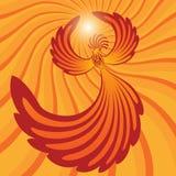 Phoenix volante nei raggi del sole Immagine Stock Libera da Diritti