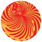 Phoenix volante in un cerchio rosso Fotografia Stock